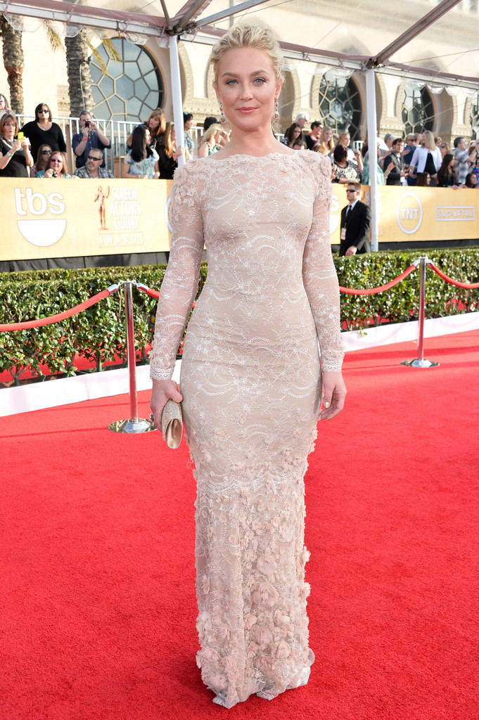 ELISABETH ROHM wearing Marchesa gown
