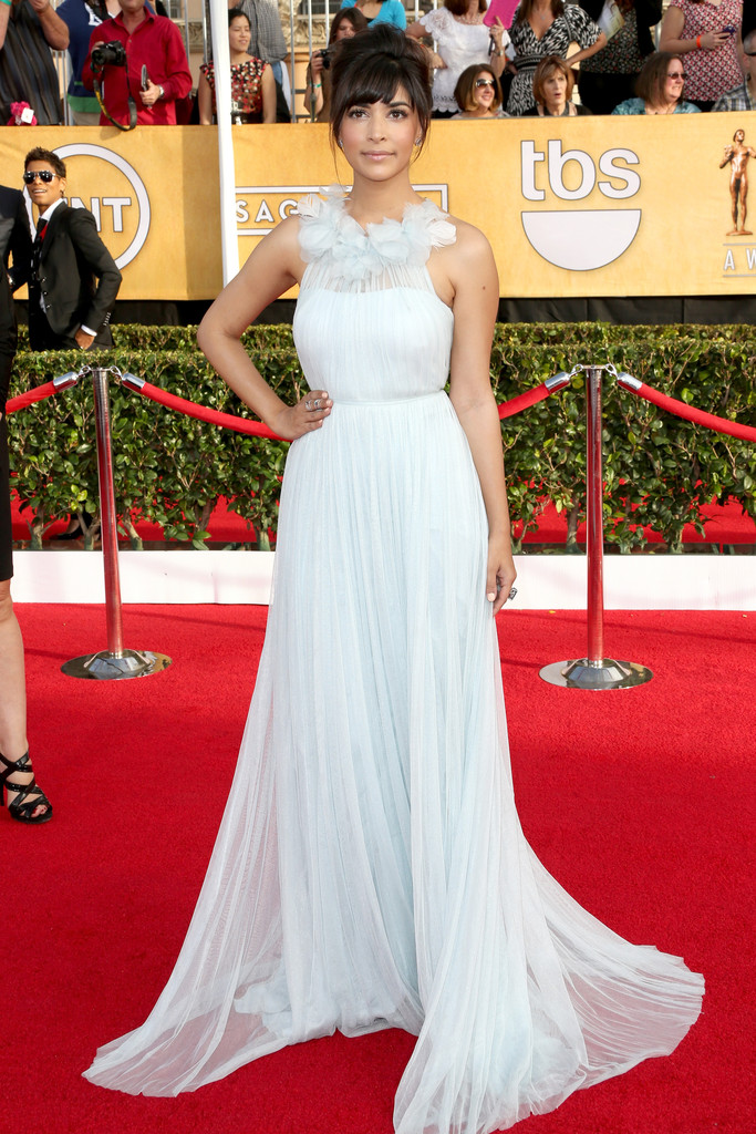 HANNAH SIMONE wearing Marchesa gown