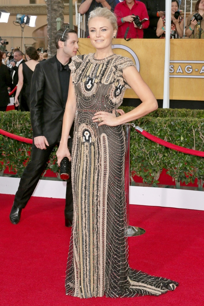 MALIN AKERMAN wearing Naeem Khan gown