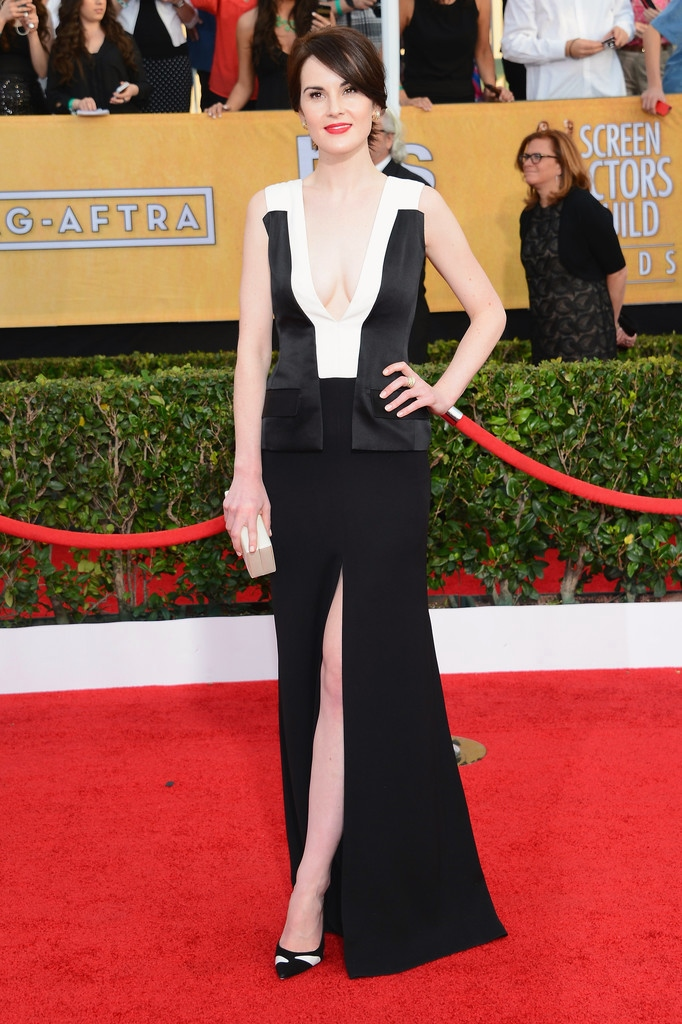 MICHELLE DOCKERY wearing J. Mendel