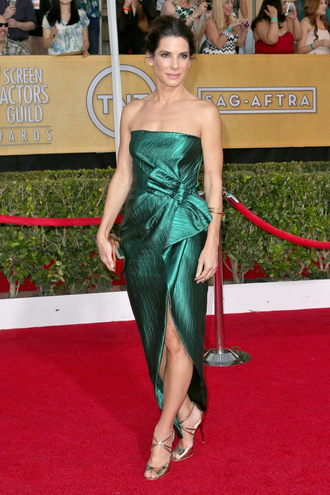 SANDRA BULLOCK wearing Lanvin gown and Fred Leighton jewelry