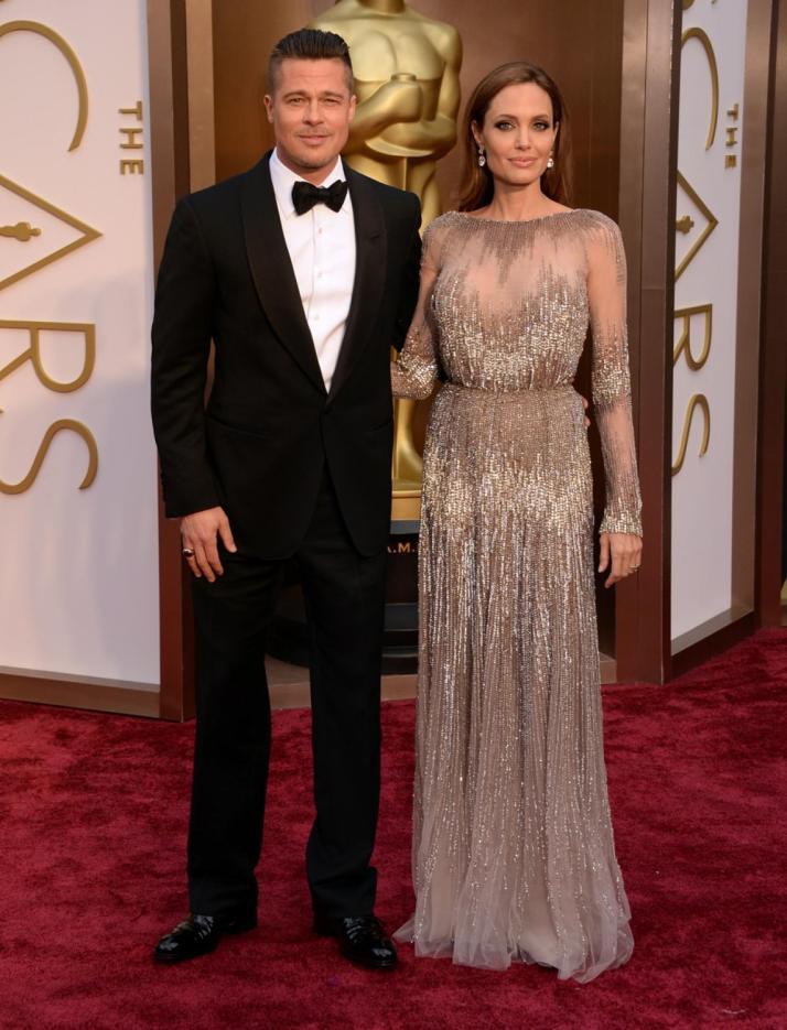 BRAD PITT & ANGELINA JOLIE wearing ELIE SAAB