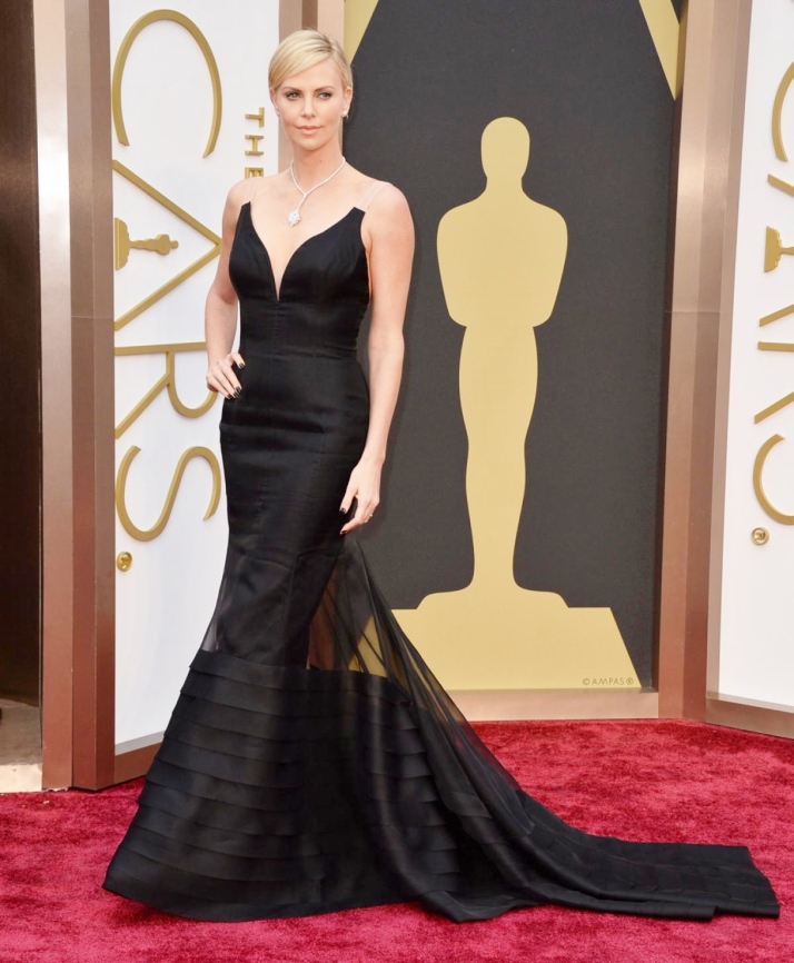 CHARLIZE THERON wearing DIOR
